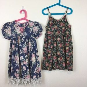 Vintage Made in the USA Girls Dresses SZ 5 & 6